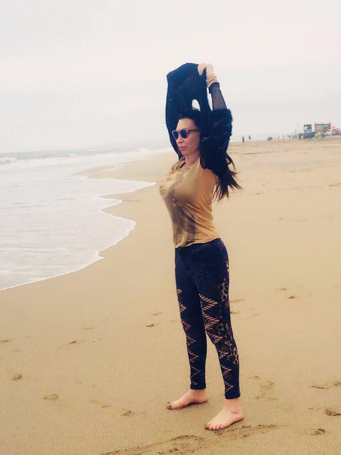 Moria Casán deslumbró con un topless en Mar del Plata