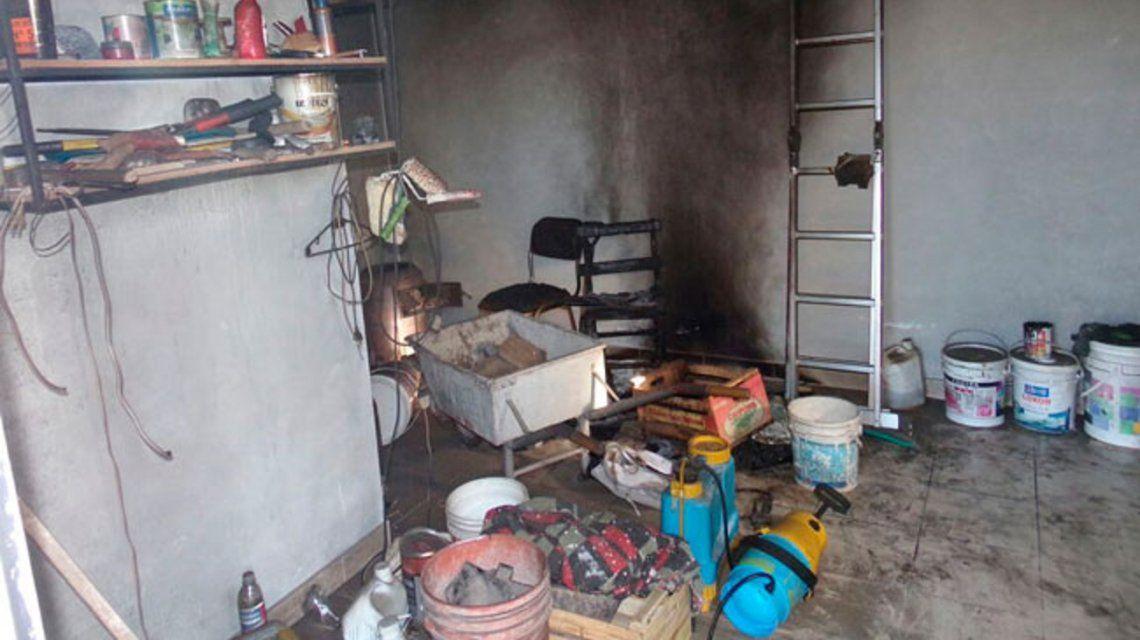 Así quedó el depósito después del incendio.