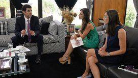 Juan Manuel Urtubeyse reunió con la ministra de Educación, Ciencia y Tecnología, Analía Berruezo y la fiscal de Estado, Pamela Calletti