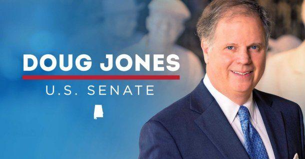 El flyer de campaña de Doug Jones
