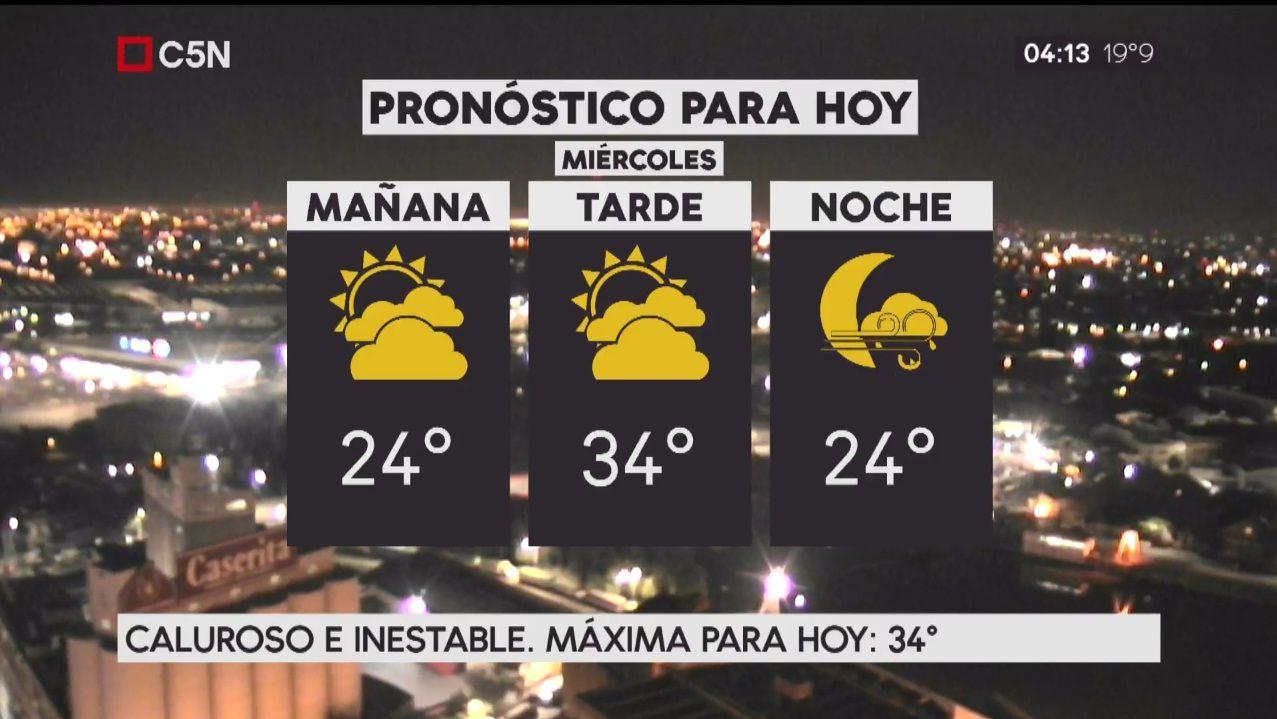 Pronóstico del tiempo del miércoles 13 de diciembre de 2017