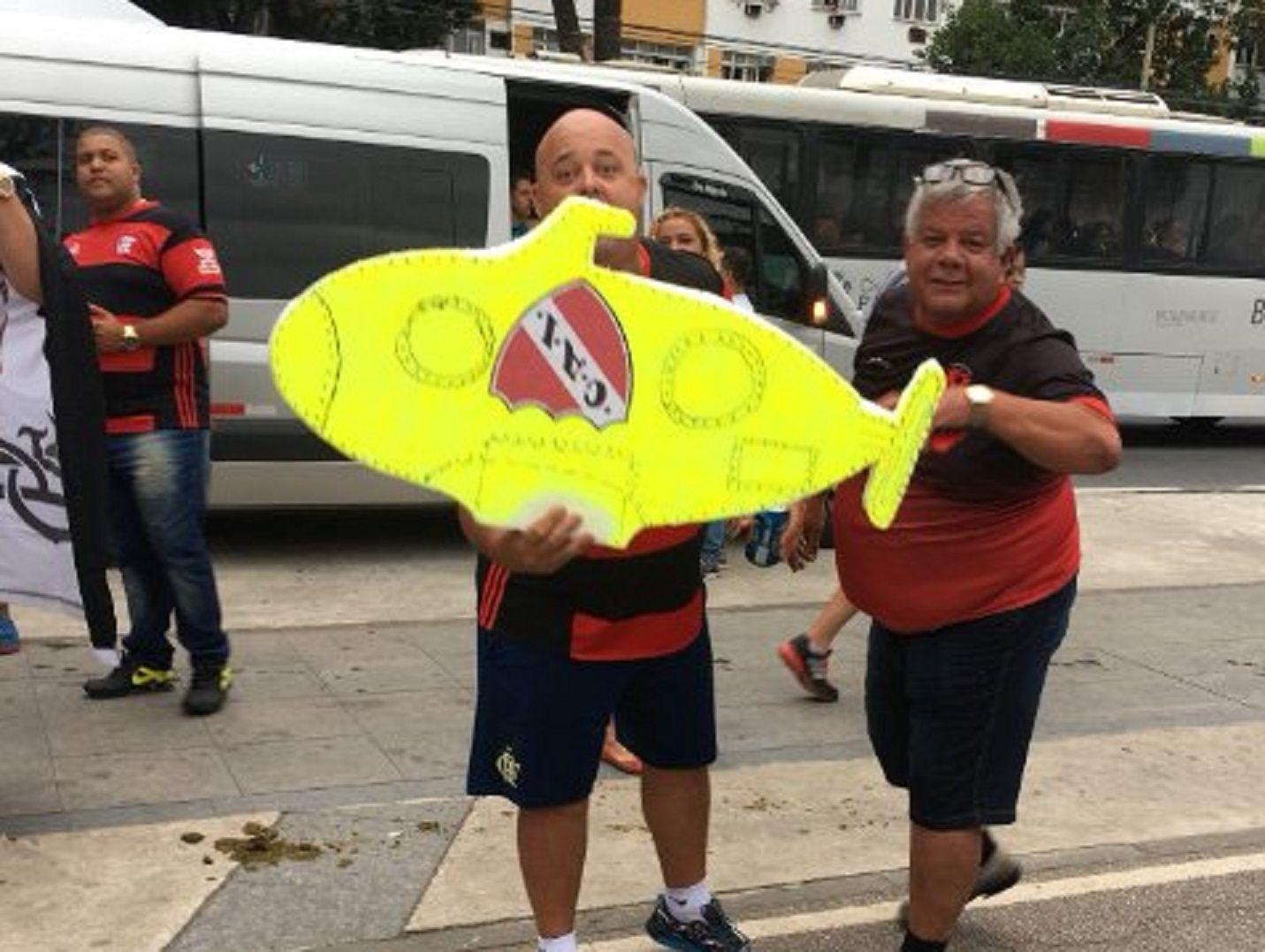 La broma de mal gusto de los hinchas de Flamengo