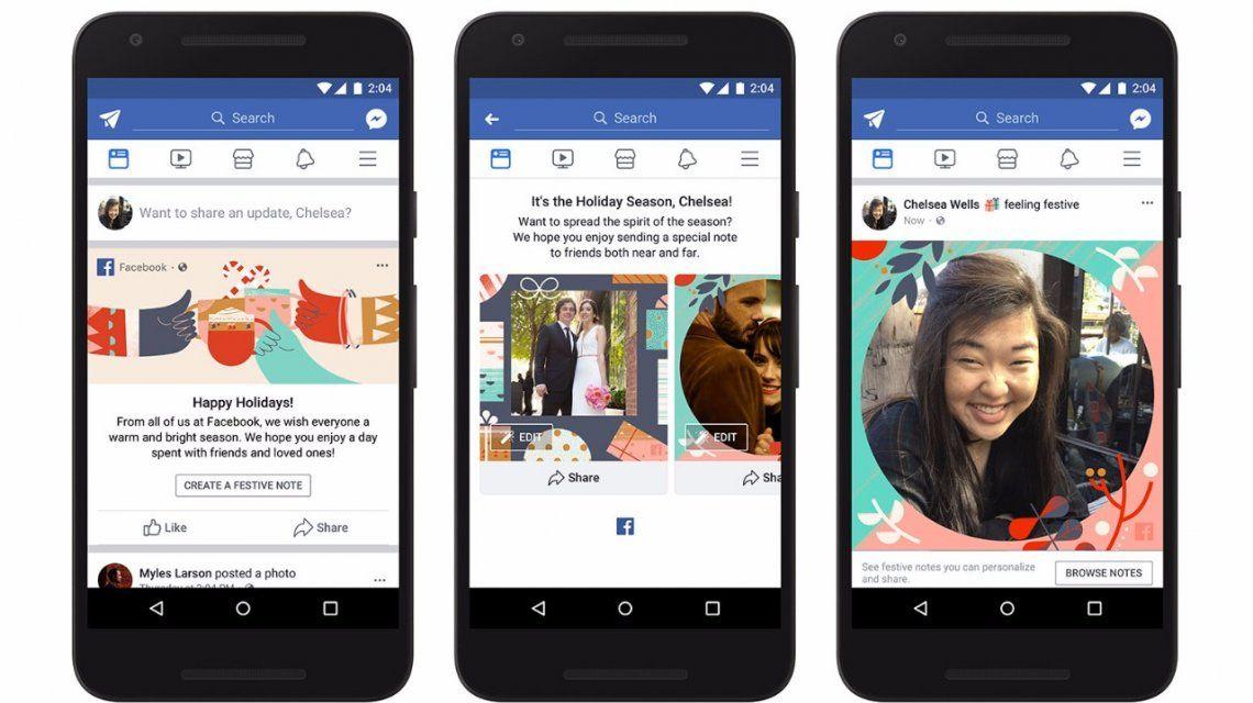 Facebook presenta sus novedades para celebrar el fin de año