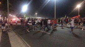 Incidentes con la hinchada de Independiente en la entrada del Maracaná