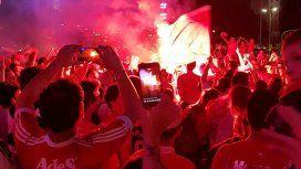 Festejos de Independiente en el Obelisco