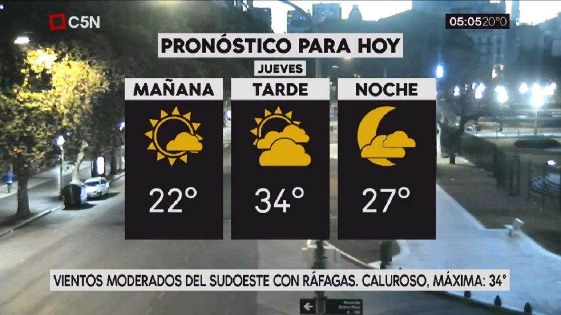 Pronóstico del tiempo del jueves 7 de diciembre de 2017