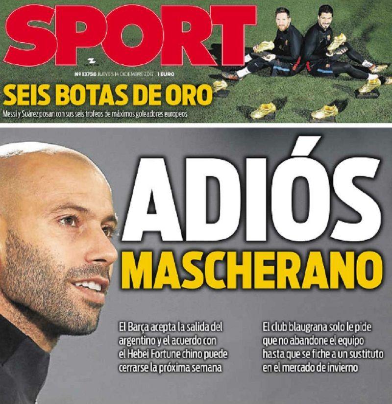 Adiós, Mascherano: el argentino no jugará más en el Barcelona