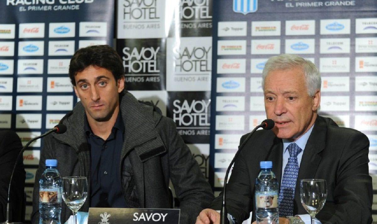 Diego Milito y Víctor Blanco