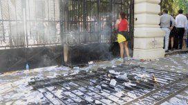 Así quedaron los accesos al Palacio Legislativo bonaerense