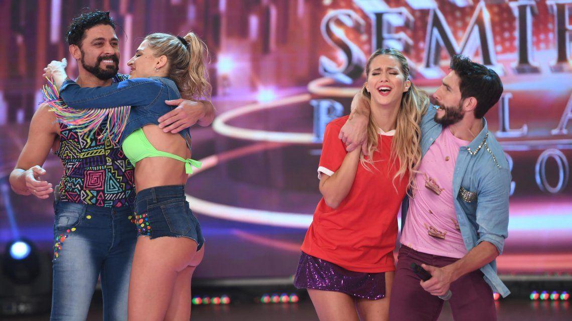 Macarena Rinaldi se abraza con Piquín mientras Flor Vigna no contiene las lágrimas