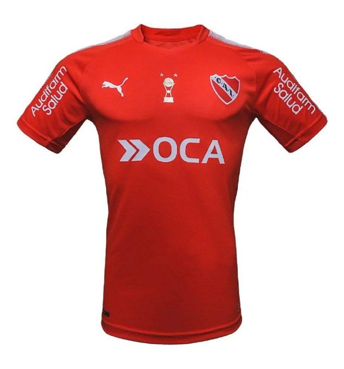 La camiseta de Independiente por la Copa Sudamericana