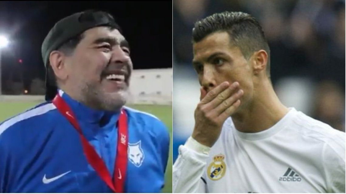 Maradona se rió de Cristiano Ronaldo