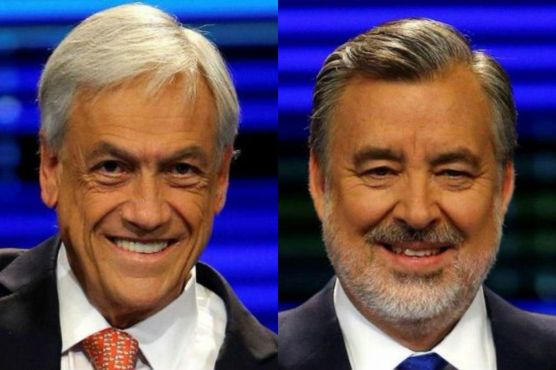 Sebastián Piñera yAlejandro Guillier.