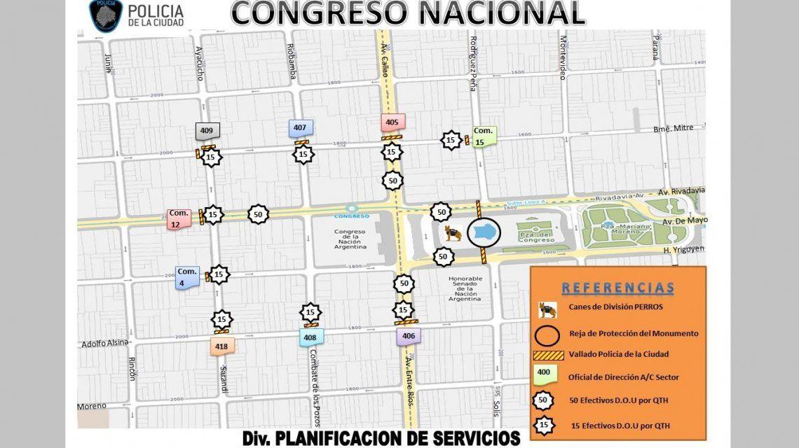 Planificación de servicios de la Policía de la Ciudad