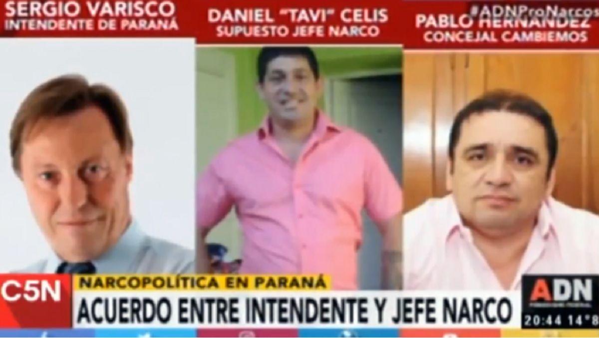 Citan a indagatoria por una causa de narcotráfico al intendente de Paraná tras una investigación de C5N