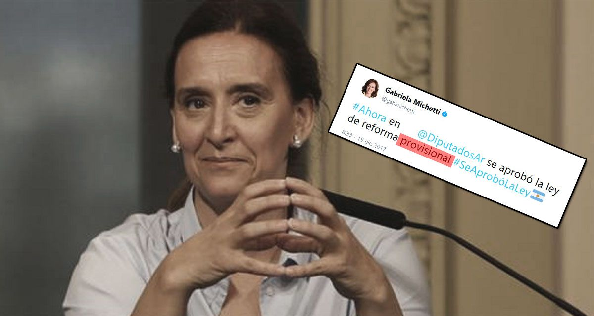 El insólito blooper de Michetti al festejar que se aprobó la reforma previsional