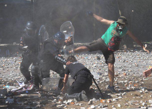 Incidentes en la Plaza del Congreso.