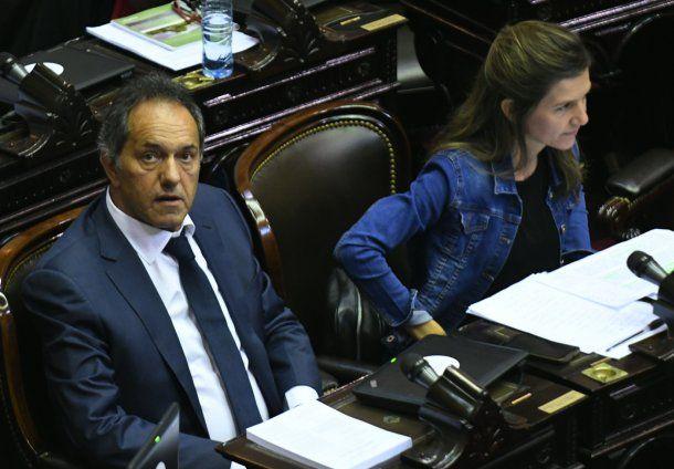 El diputado Daniel Scioli durante el debate de la ley de reforma tributaria.