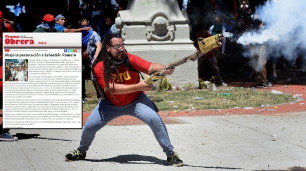 <p>El hombre mortero y el artículo de Prensa Obrera</p>