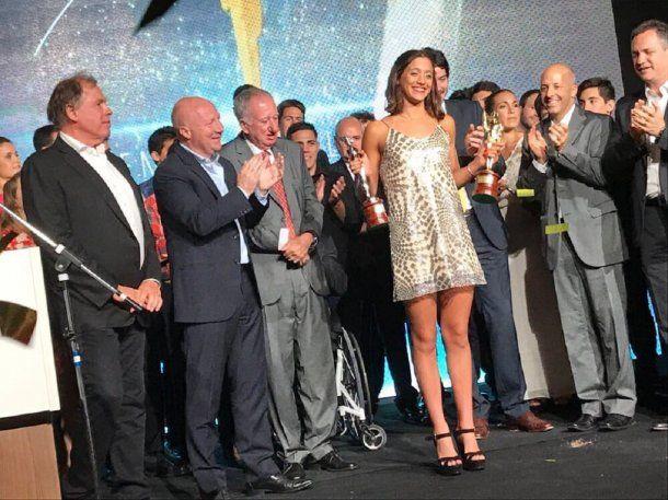 Delfina Pignatiello recibe el Olimpia de Oro<br>
