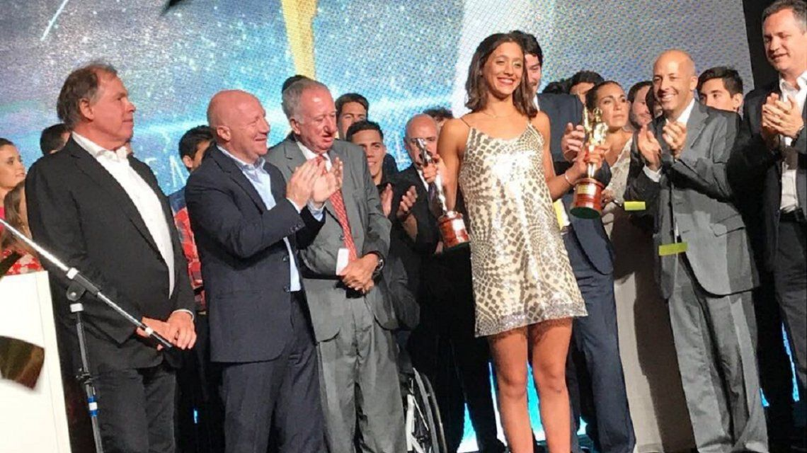 Delfina Pignatiello recibe el Olimpia de Oro
