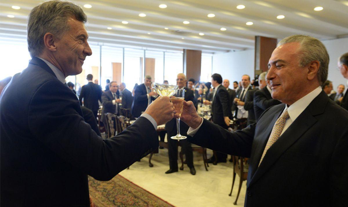 Mauricio Macri con Michel Temer