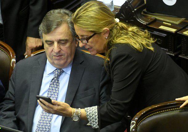 Mario Negri, jefe de la bancada del interbloque Cambiemos<br>
