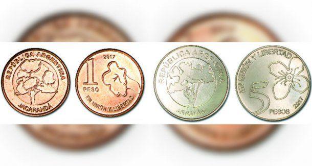 El Banco Central puso en circulación las monedas con árboles