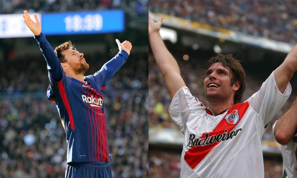 Cavenaghi se comparó con Messi por el festejo de su gol ante el Real Madrid