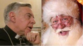 Monseñor Aguer criticó a Papá Noel en torno a la Navidad