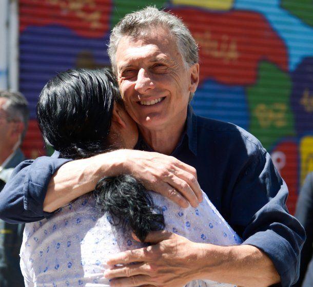 Macri visitó a la fundadora del comedor comunitario
