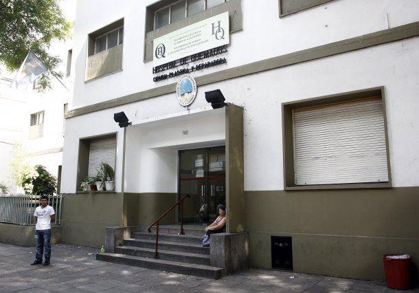 Frente del Hospital de Quemados, barrio porteño de Caballito