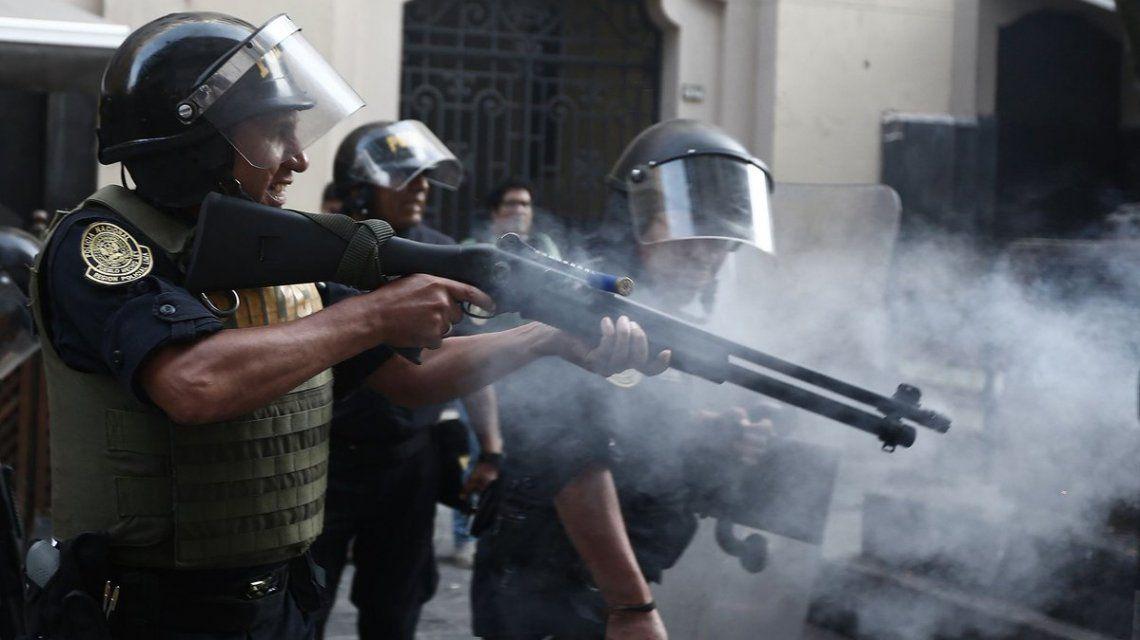 La policía reprimió a los manifestantes