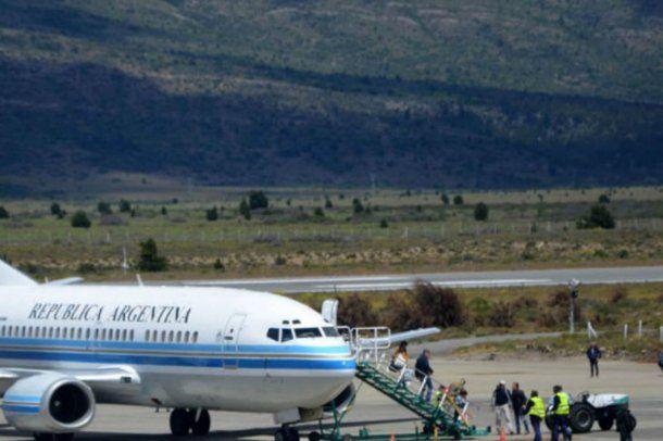 El avión Tango 04 en San Carlos de Bariloche