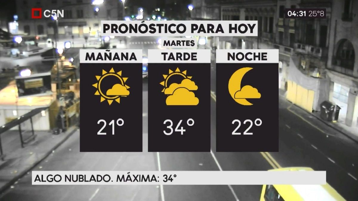 Pronóstico del tiempo del martes 26 de diciembre de 2017