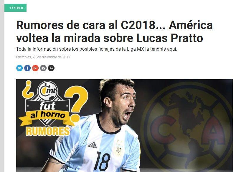 A River le surgió un competidor por Lucas Pratto: ¿se va para México?
