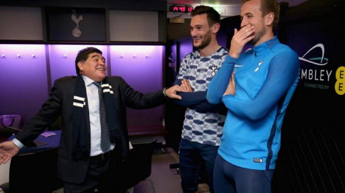 Diego bromeó con el temible goleador del Tottenham
