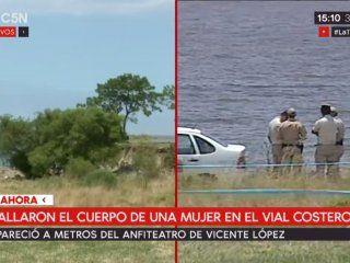 encuentran un cadaver en el rio cerca del anfiteatro de vicente lopez