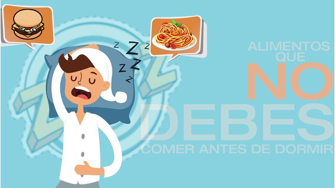 ¿Qué comidas hay que evitar antes de ir a dormir?