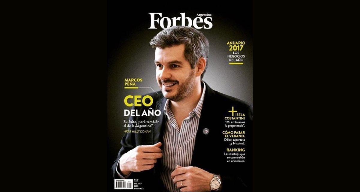Insólito: la revista Forbes nombró a Marcos Peña como el CEO del año y estallaron las redes