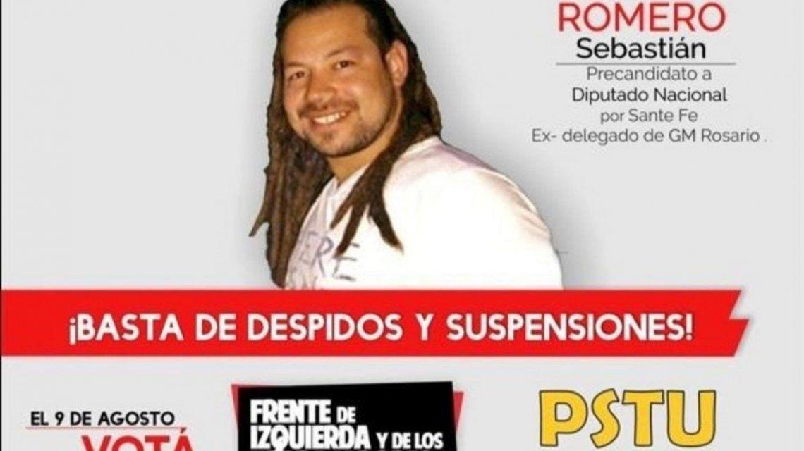 Sebastián Romero fue precandidato a diputado nacional por Santa Fe.