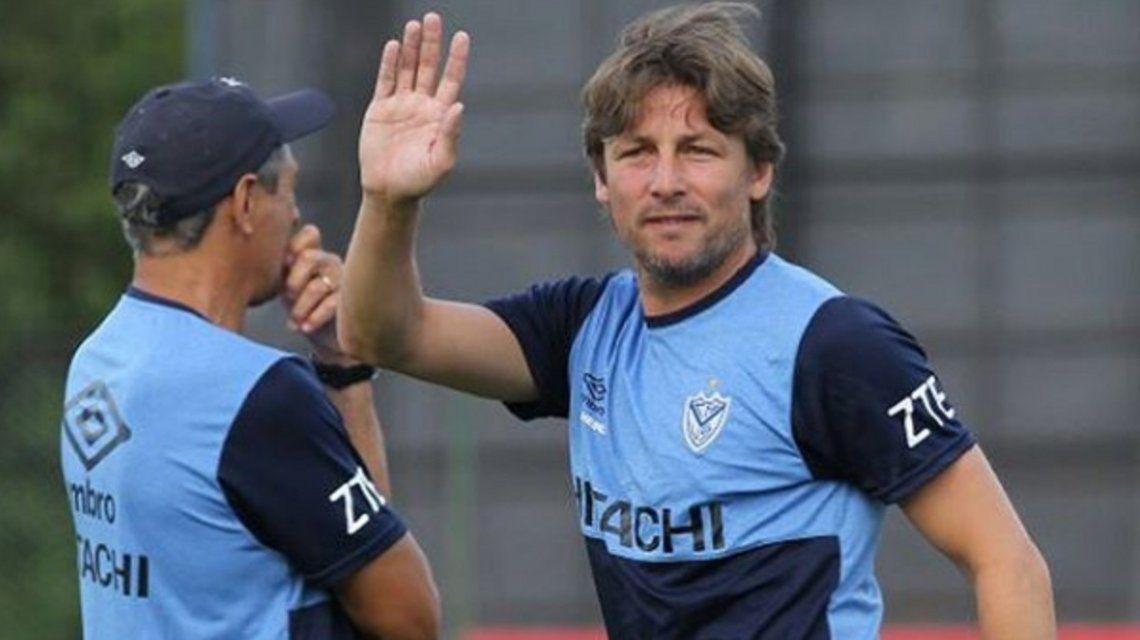 Heinze en el entrenamiento de Vélez - Crédito: Instagram Vélez