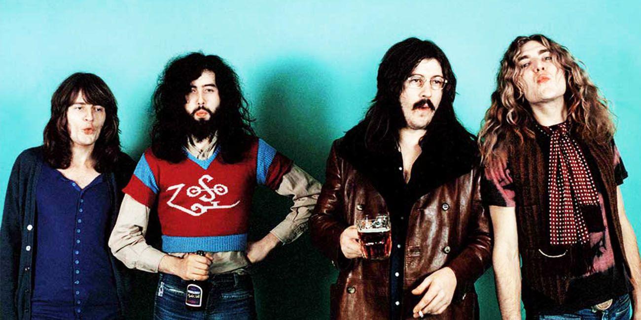 Led Zeppelin con su formación completa