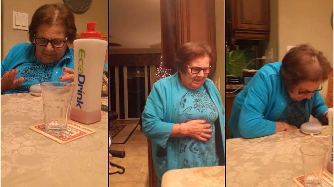La divertida reacción de una abuela italiana al utilizar Google Home por primera vez