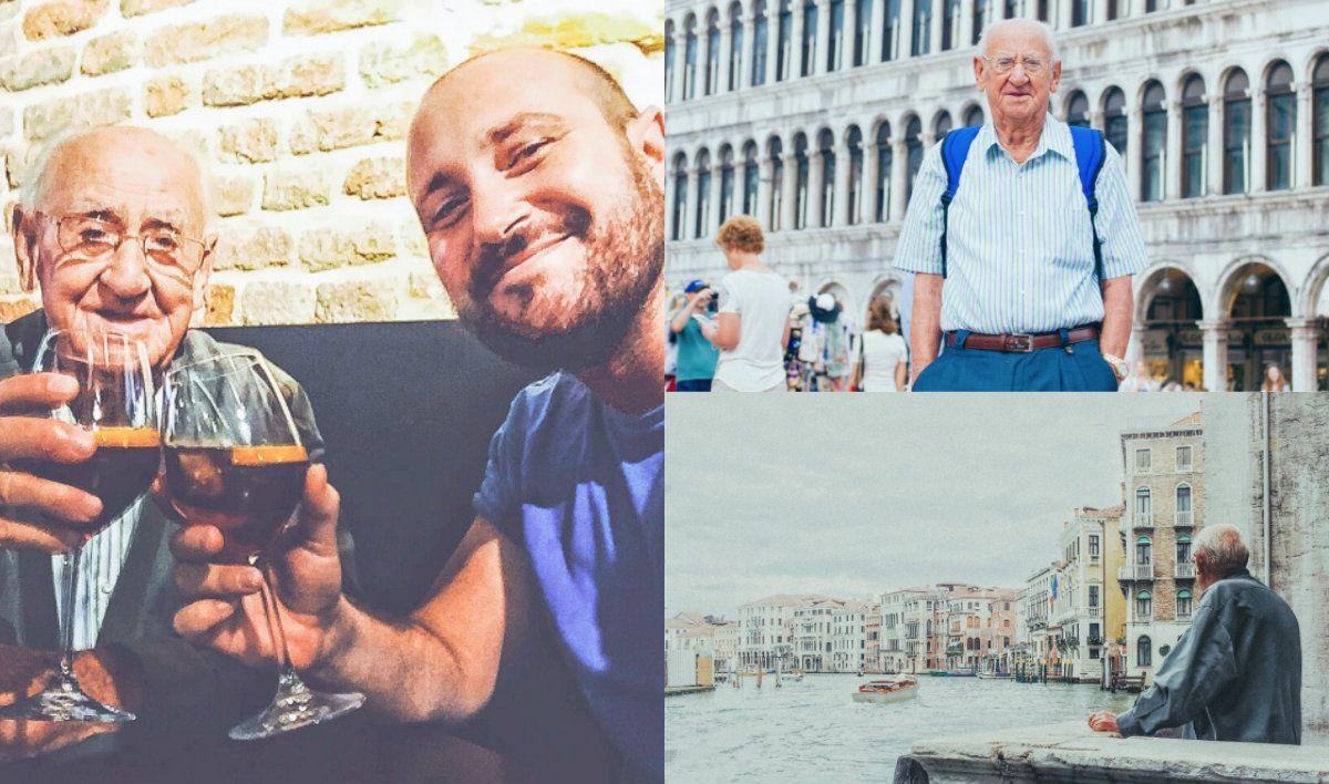 Abuelo y nieto comparten la afición por los viajes