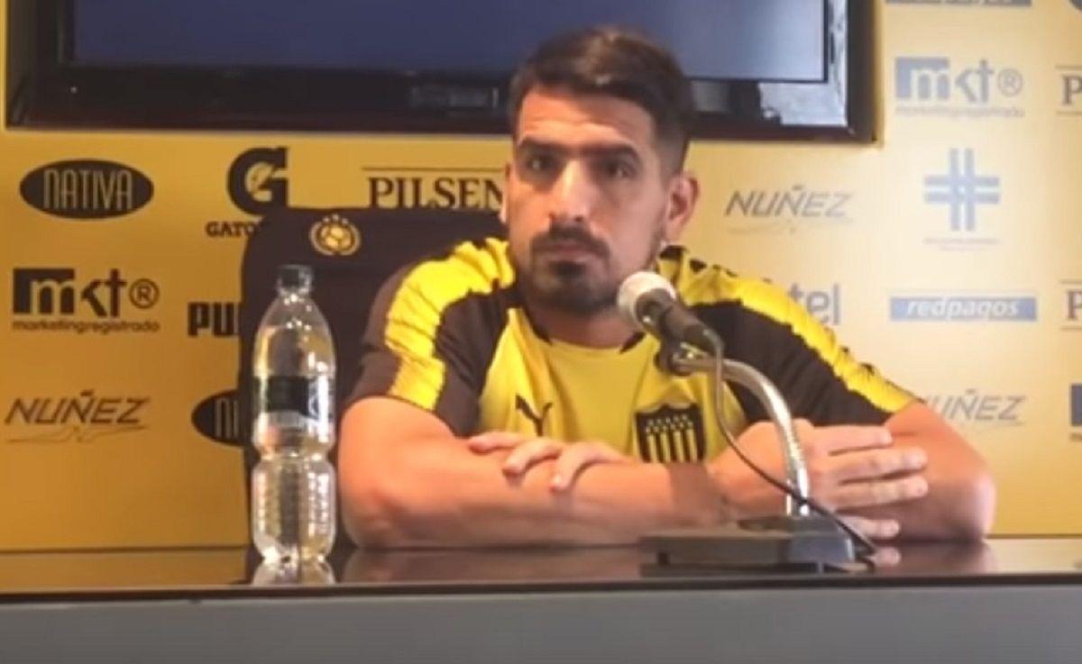 Lucas Viatri sufrió una lesión por pirotecnia