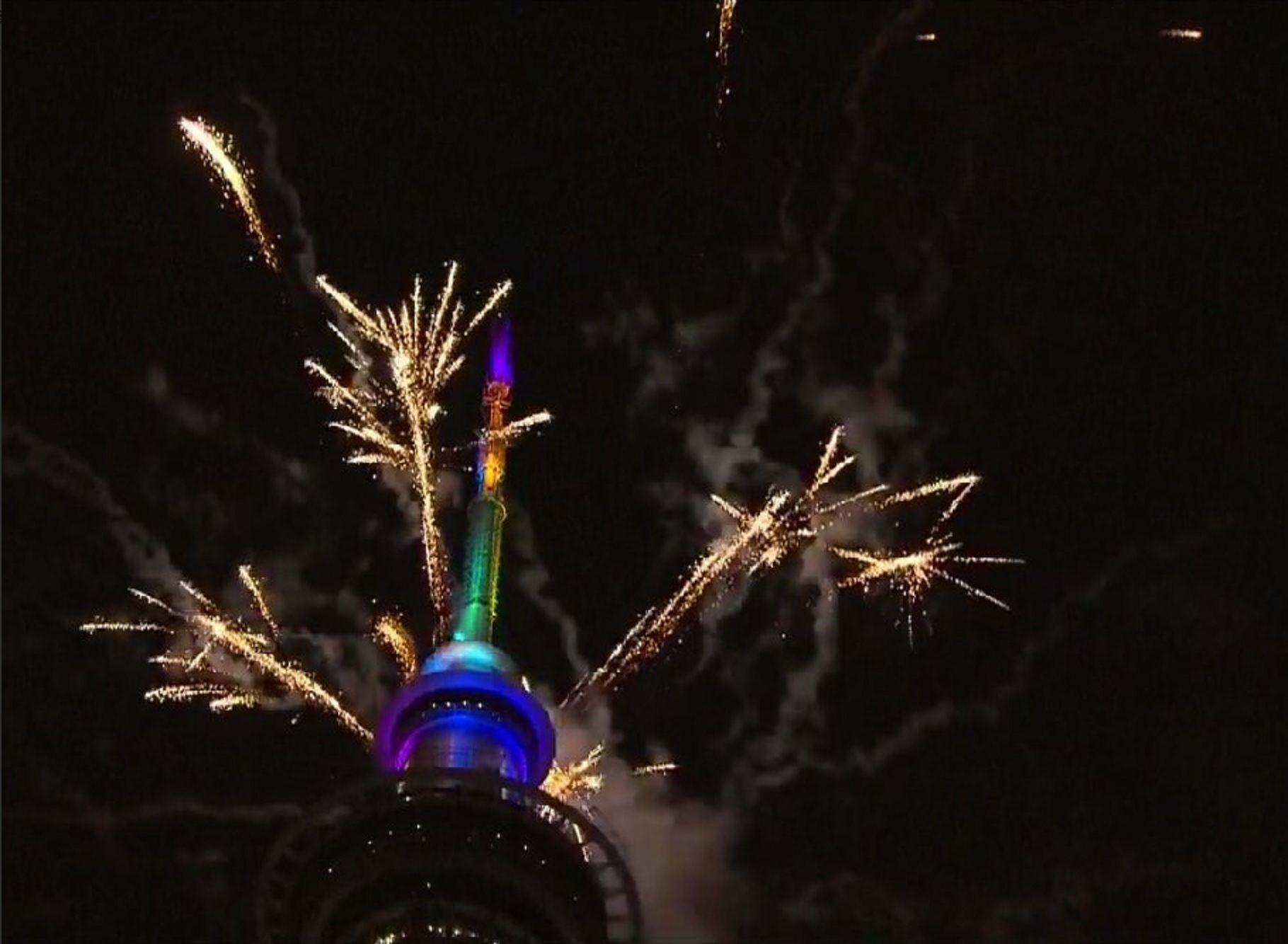 Nueva Zelanda fue uno de los primeros países en recibir el Año Nuevo