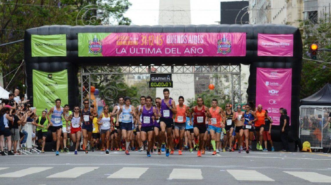 La maratón de San Silvestre de Buenos Aires es la última del año