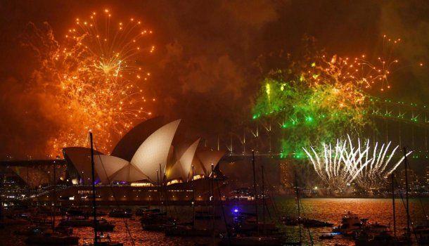 Así recibieron la navidad en Sidney, Australia