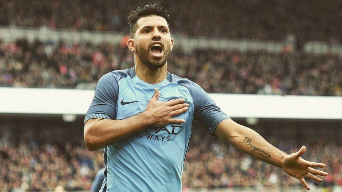 VIDEO: El gol del Kun Agüero que lo metió en la historia grande de la Premier League